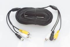 Видео- кабель для ТВ, аудио и силы Стоковое Изображение RF