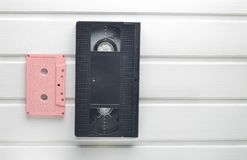 Видео- кассета и магнитофонная кассета Стоковое Изображение RF
