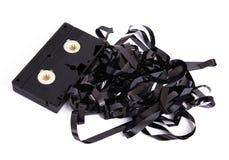 Видео- кассета на белой предпосылке стоковые изображения