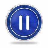 Видео- кнопка паузы 3D Стоковые Фотографии RF