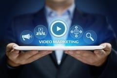 Видео- концепция технологии интернета дела рекламы маркетинга стоковое изображение rf