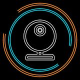 Видео- кулачок сети - значок камеры болтовни, веб-камера вектора иллюстрация вектора