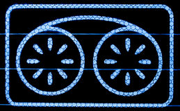 видео ленты символа дисплея Стоковые Изображения RF