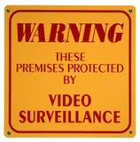 видео наблюдения знака Стоковое Изображение