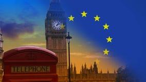 Видео неба Лондона видеоматериал