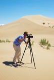 видео оператора пустыни Стоковые Фото