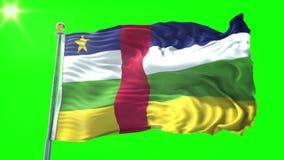 Видео перевода 3D флага Центральноафриканской Республики безшовное закрепляя петлей Красивый развевать петли ткани ткани ткани иллюстрация штока