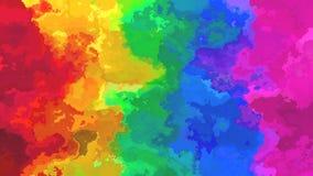 Видео петли предпосылки конспекта оживленное twinging запятнанное безшовное - влияние splotch акварели - живое spectru полного цв иллюстрация штока