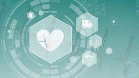 Видео произведенное цифров биения сердца иллюстрация вектора