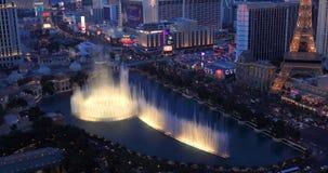 Видео прокладки Лас-Вегас от высокого балкона подъема Вид с воздуха города видеоматериал