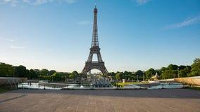 Видео Эйфелева башни от места Trocadero акции видеоматериалы