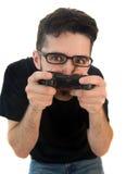 видео gamer чокнутое Стоковая Фотография