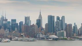 видео hyperlapse 4k центра города Нью-Йорка акции видеоматериалы