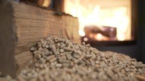 Видео 4K системы отопления деревянной плиты экономическое видеоматериал