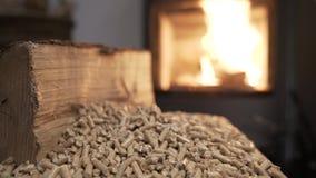 Видео 4K системы отопления деревянной плиты экономическое сток-видео