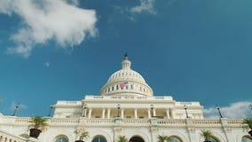 Видео Timelapse: Величественное здание капитолия в Вашингтоне, DC видеоматериал