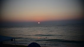 Видео Timelapse восхода солнца на взморье Румынии видеоматериал
