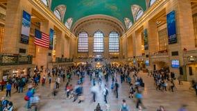 видео timelapse 4k грандиозной центральной станции в Нью-Йорке акции видеоматериалы
