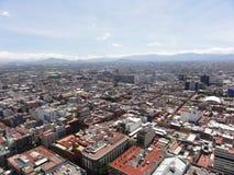 Видимость города Ciudad Мехико от вершины латино-американской башни - Мексики стоковые фото