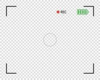 Видоискатель камеры, цифровое видео, фокус фото Рамка экрана верхнего слоя вектора элемента граничит снимок предпосылка прозрачна бесплатная иллюстрация