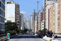 Виды на город Сан-Паулу стоковое фото rf