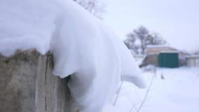 Виды снега опасно Возможные спуск или сброс давления видеоматериал