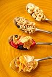 виды хлопий для завтрака различные Стоковая Фотография RF
