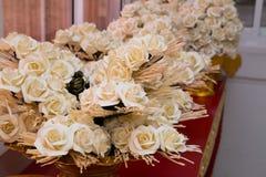 Вид деревянных цветков, который нужно поместить Стоковое фото RF