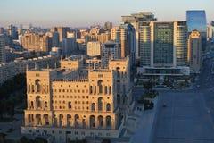 Вид на город Баку Стоковая Фотография RF