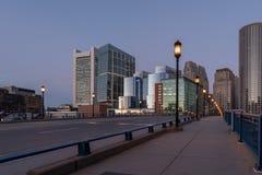 Вид на город Бостона стоковое фото rf