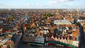 Вид на город Брюгге видеоматериал