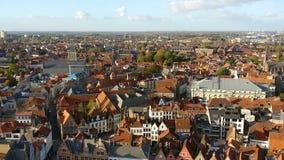 Вид на город Брюгге акции видеоматериалы