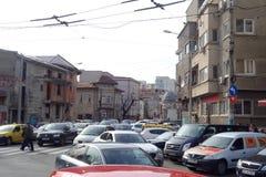 Вид на город Бухареста Стоковые Изображения