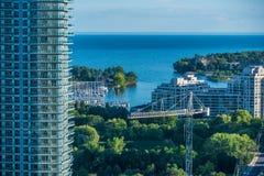 Вид на город в временени Стоковая Фотография RF