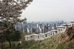 Вид на город в Сеуле, Южной Корее Стоковые Фото