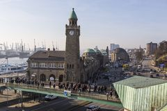 Вид на город Гамбурга, Германии стоковые изображения