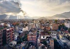 Вид на город Катманду Стоковые Фотографии RF