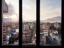 Вид на город Катманду Стоковое фото RF