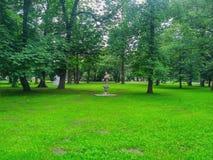 Вид на город Кракова - парк Krakowsky Стоковые Изображения RF