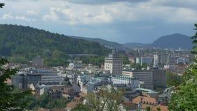 Вид на город Любляны акции видеоматериалы