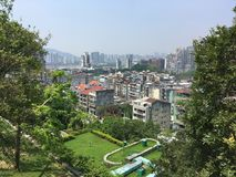 Вид на город Макао от форта Monte Стоковое фото RF