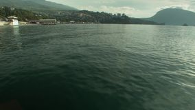 Вид на город моря от моря акции видеоматериалы