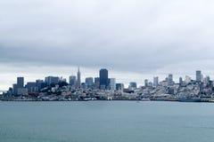 Вид на город Сан-Франциско от Alcatraz стоковая фотография