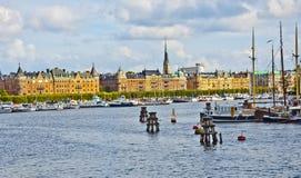 Вид на город, Стокгольм, Швеция Стоковое Фото