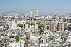 Вид на город Токио от смотровой площадки Bunkyo стоковое фото rf
