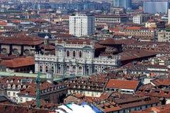 Вид на город Турина сверху стоковое изображение