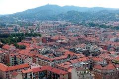 Вид на город Турина сверху стоковые изображения