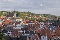Вид на город Cesky Krumlov стоковое фото rf