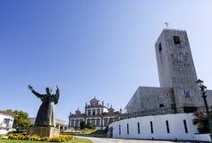 Вид на город Mirandela Стоковое Фото