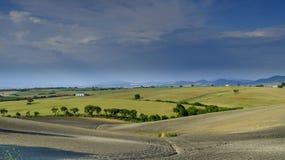 Вид на загородную местность Andalucian ранним летом стоковое фото rf